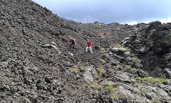Etna Trekking, Back down