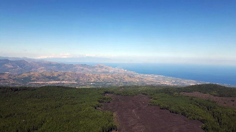 Etna Jeep Tour, Vista sul mare