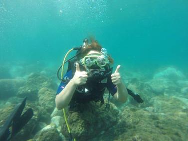 Beginners diver, Scuba Sicily