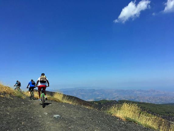 Etna bike excursions, Sea view trail