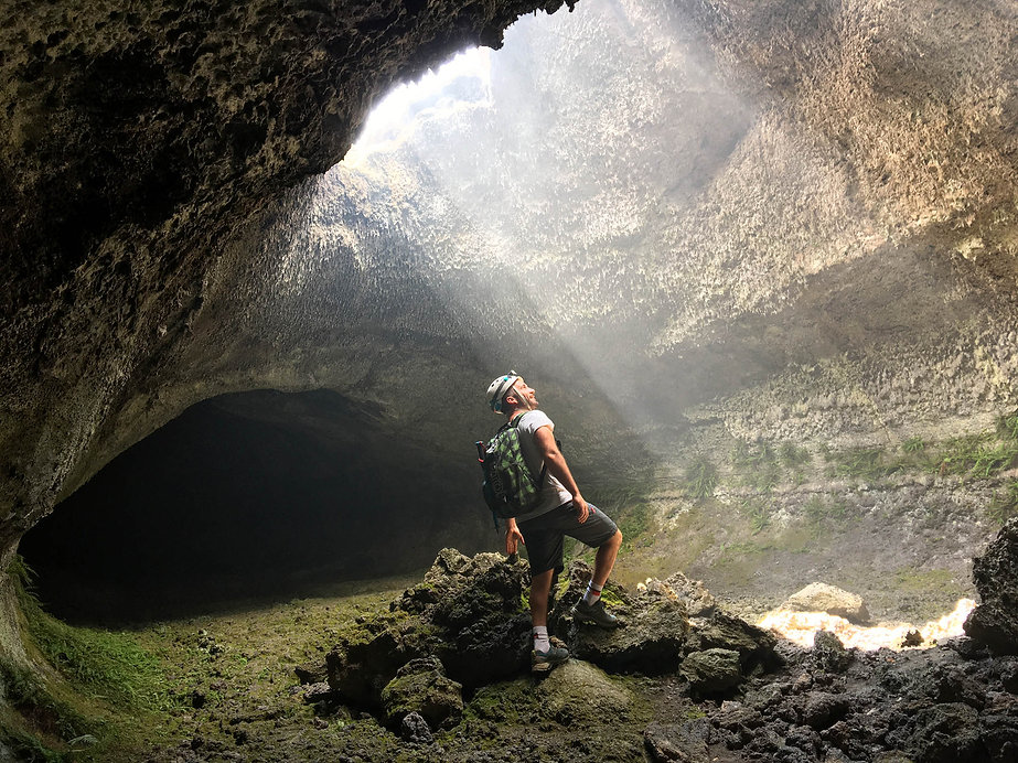 Volcanic Cave Exploration during mount Etna hike