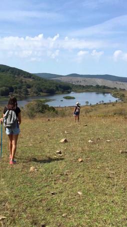 Arrivo ad uno dei laghi, Parco dei Nebrodi percorsi