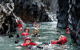 Lava Canyon, Body Rafting Alcantara Gorge
