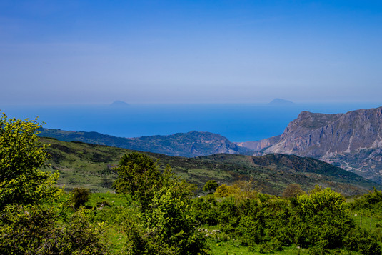 Aeolian Island view, Nebrodi hiking