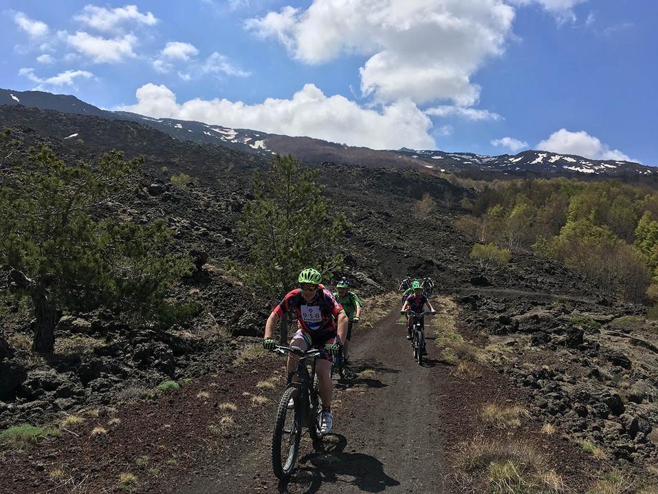 Passo dei Dammusi, Biking on Etna