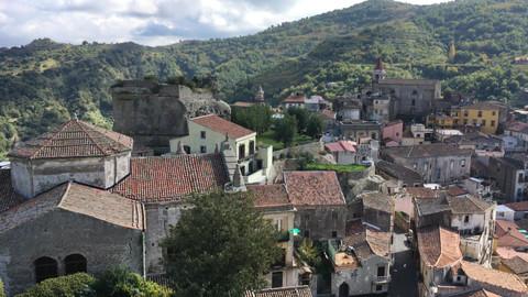 Vista dal Castello dei Lauria, Escursioni MTB Sicilia