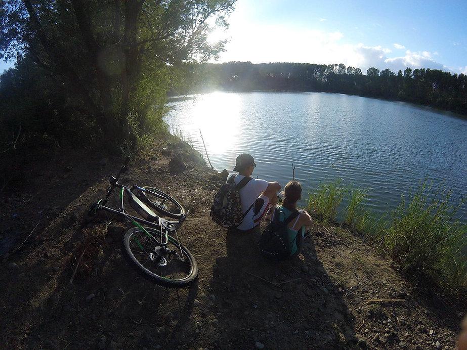 Escursione Mountain Bike Lago Gurrida