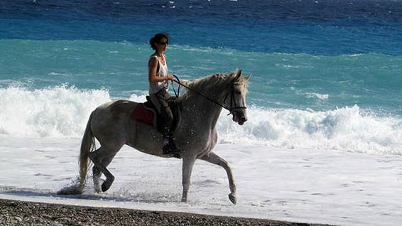 Passeggiata a cavallo in spiaggia, Giardini Naxos