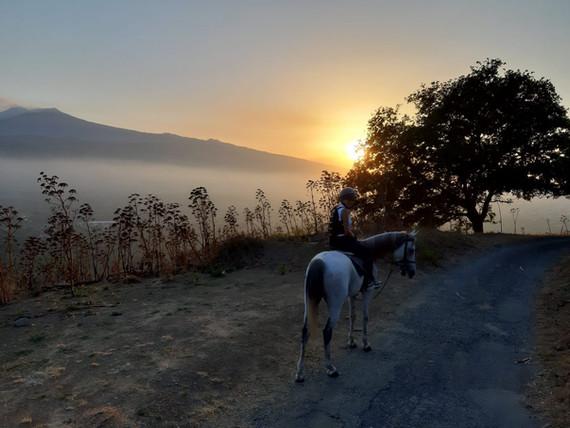 Tour a Cavallo al Tramonto