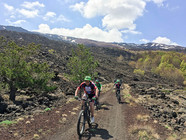 Biking on mount Etna, Trail