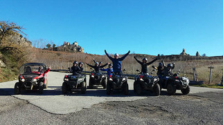 People take fun with a quad bike tour in Sicily