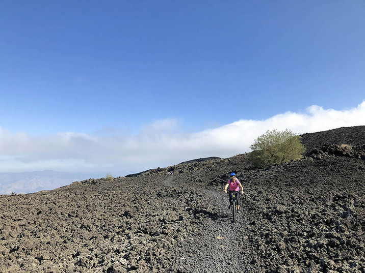 Along the lava flow, Etna Tour and eBike Rental