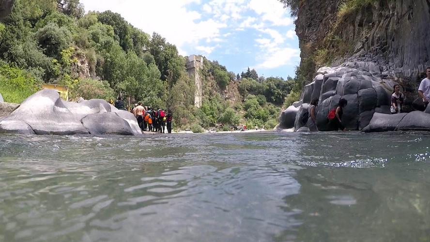 Alcantara River Park, Alcantara Sicily, Body Rafting