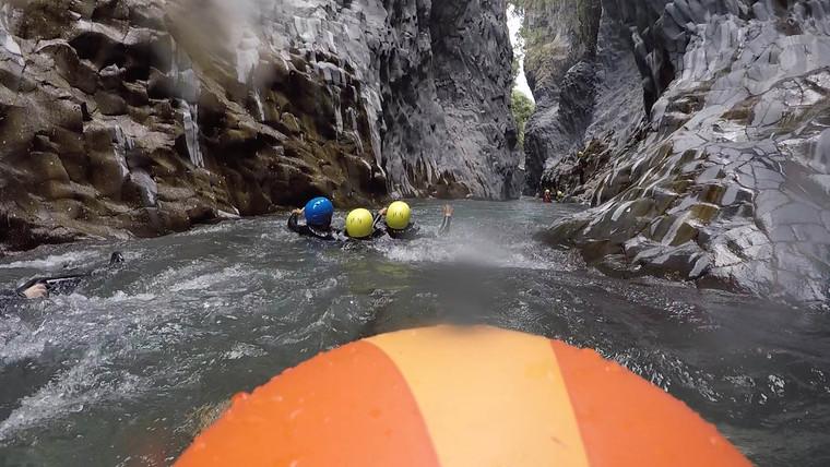 Il Canyon Lavico, Body Rafting Gole Alcantara