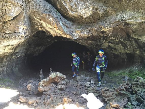 Biking on mount Etna, Lava Tube