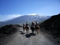 Vista panoramica Etna, Trekking a Cavallo Etna