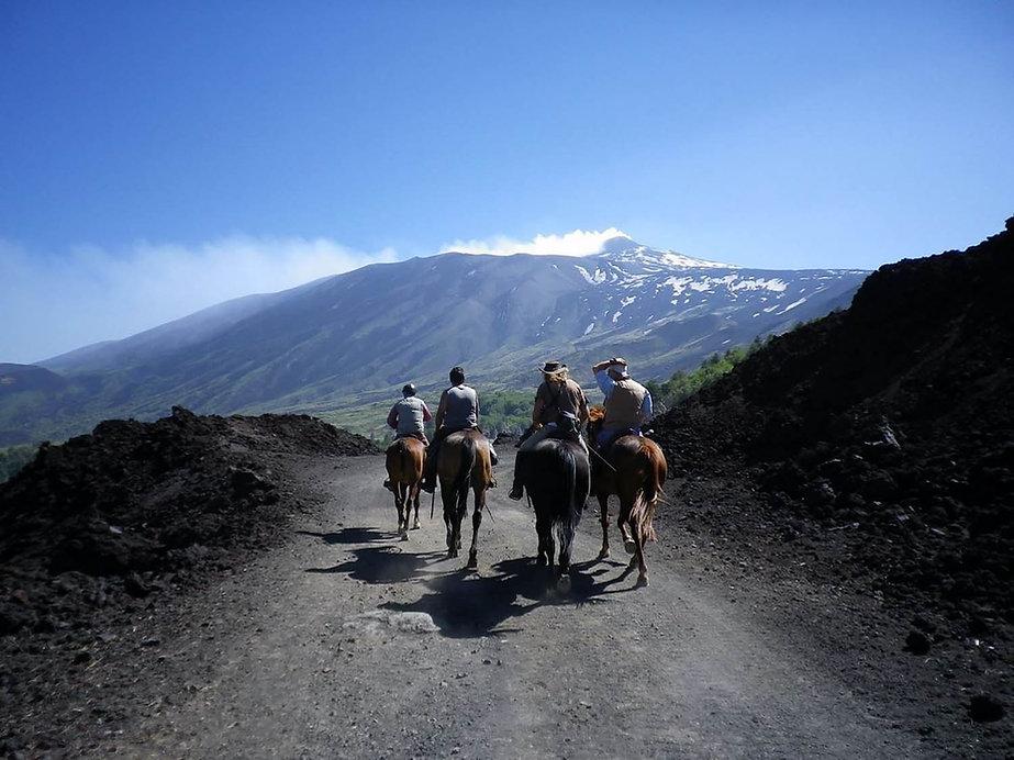Horseback Riding on Mount Etna