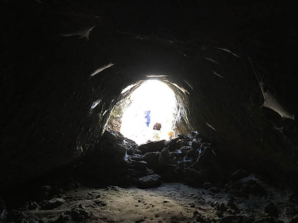 Etna in MTB, Esplorazione grotta