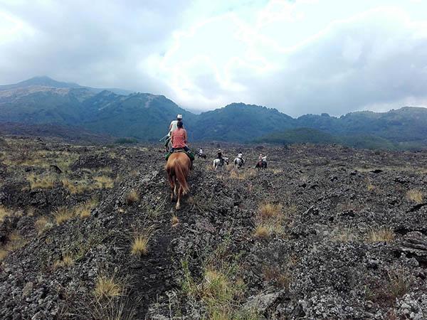 Sicily Horse Riding, Lava field