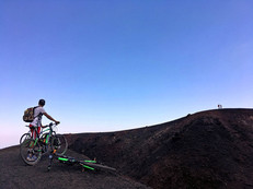 View Point on a Crater, Etna Bike Tours