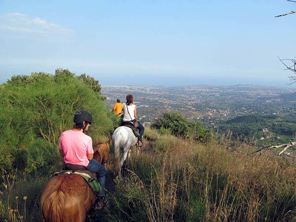 Horseback Riding in Sicily, Sea View