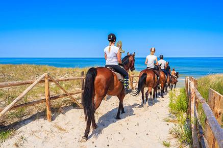 Horseback riding on the beach in Taormina andNaxos