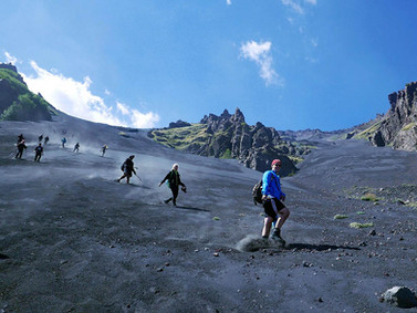 Descent by Volcanic Canal, Mount Etna Tours
