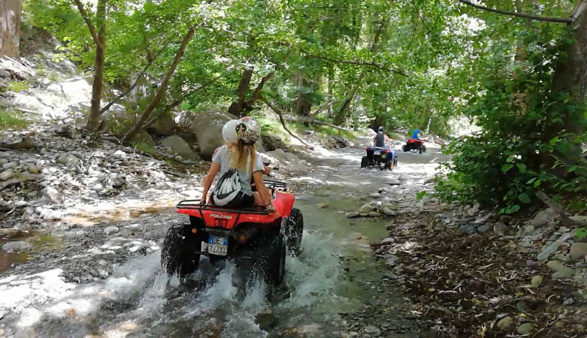 Alcantara Gorges Trail, Quad Tour