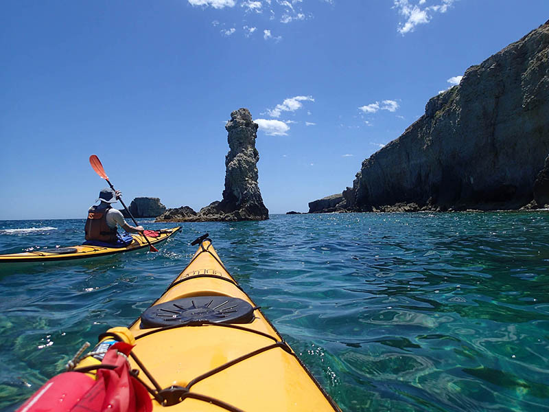 Pagaiando, Escursioni in Kayak