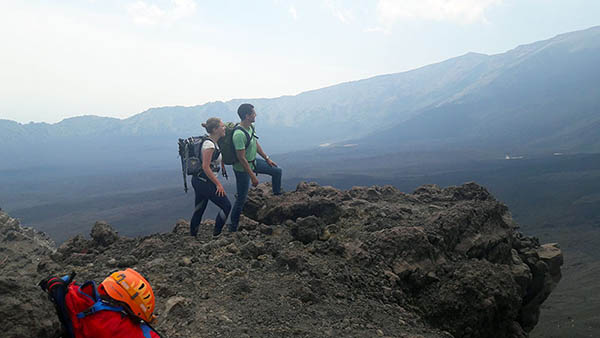 Etna Excursion, The crest of valley