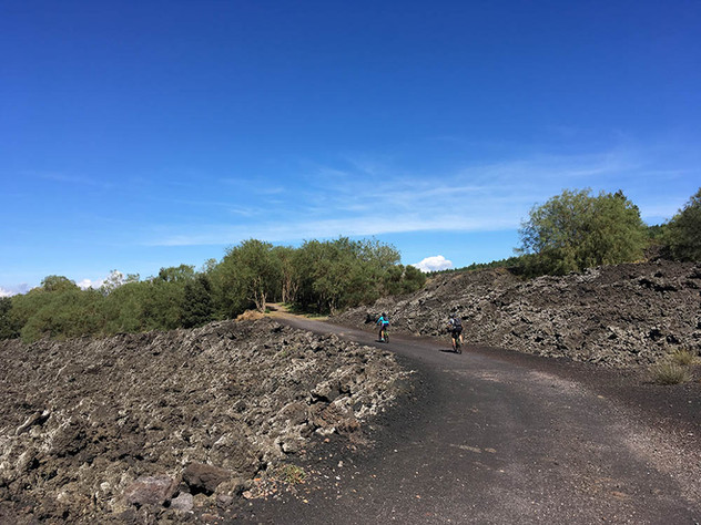 Cycling Mount Etna