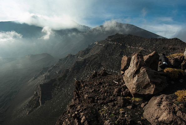 Hiking Mount Etna, Clouds