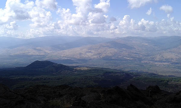Etna Excursion, Panoramic view
