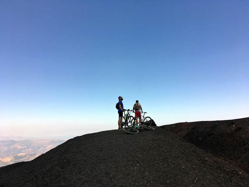 Percorsi MTB Etna, Vista dai crateri