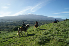 Etna view, Horse ride