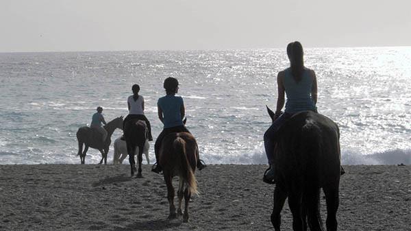 Passeggiata a cavallo spiaggia
