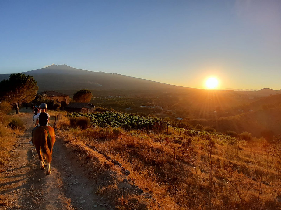 Etna Sunset Horse Ride