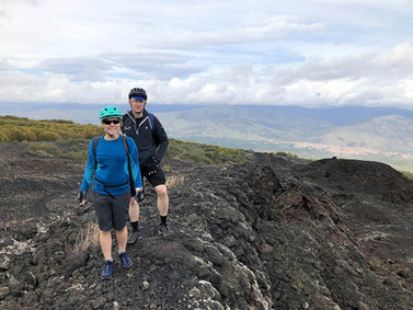 Short trekking to the craters, Etna Bike Tour