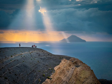 Sunset, Aeolian Island Trek Tour