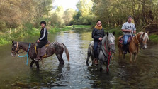 Nel fiume, Escursioni a cavallo Sicilia