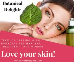 natural rosacea skin care. essential oils for rosacea