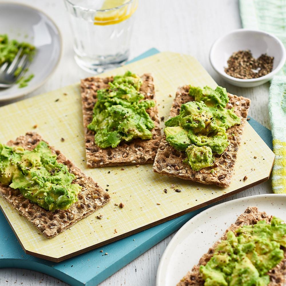 ryvita cracker avocado spread vegan snack 150 calories