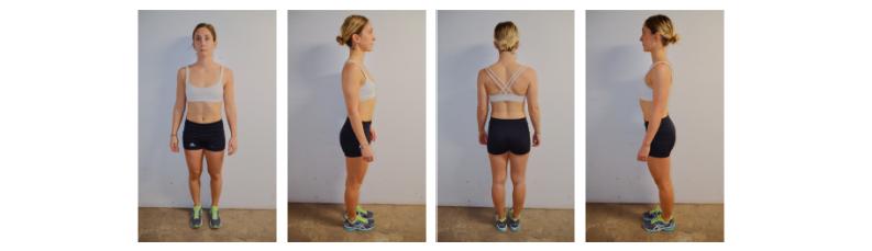 Photos de progression pour évaluation de la condition physique
