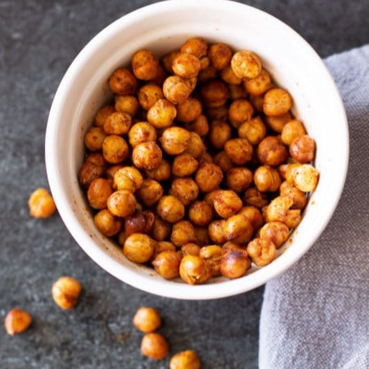 chili lime rosted chickpeas vegan snack 150 calories