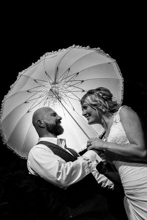 Bride groom black & White
