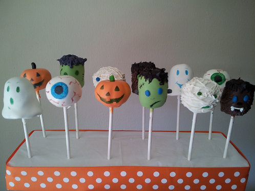 1 Dozen Character Halloween Cake Pops