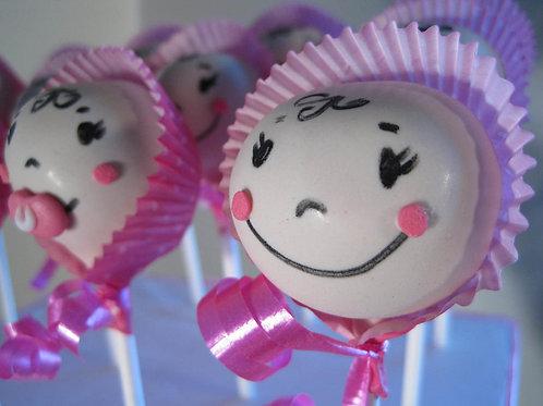 1 Dozen Baby Face Cake Pops