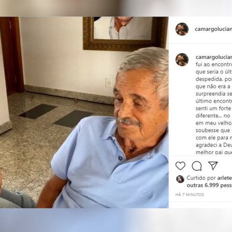 LUCIANO LAMENTA A MORTE DO PAI, SEU FRANCISCO: 'SAUDADE INFINITA'