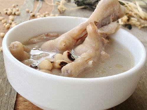 #022 瑤柱冬菇花生眉豆湯 (黑眉豆版)