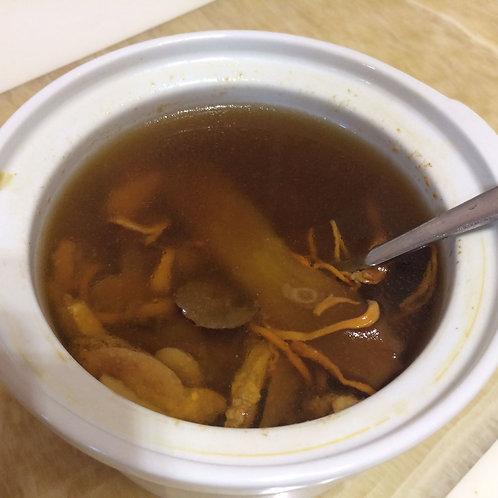 #810 花旗參蓮子蟲草花湯  American ginseng anxiety removing soup